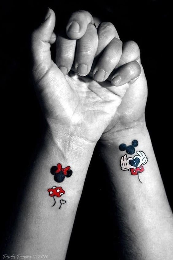tatuajes Mickey y Minnie Mouse