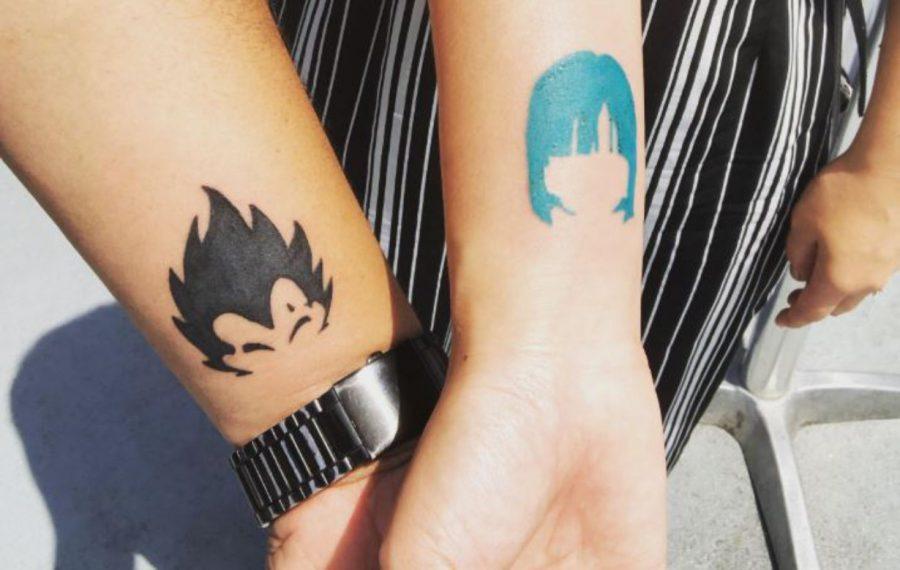 tatuaje de Vegeta y Bulma