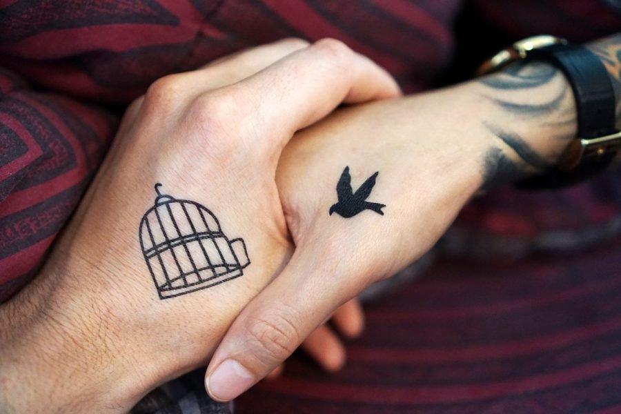 tatuaje de Pájaro y jaula